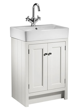Roper Rhodes Hampton 550mm White 2 Door Countertop Unit With Basin - Image
