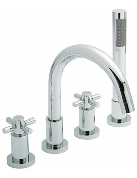 Tec 4 Tap Hole Bath Mixer Tap With Shower Kit