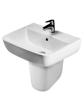 RAK Series 600 1 Tap Hole Basin 520mm With Pedestal - Image