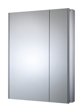 Refine Slimline Double Door Non-Electric Mirror Cabinet