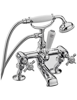 Imperial Chrome Bath Shower Mixer Tap With Kit