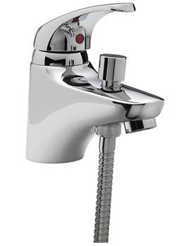 Modena Mono Bath Shower Mixer Tap With Shower Kit