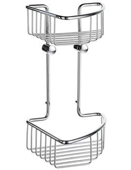 Sideline 165 x 165mm Soap Basket Corner 2 Level