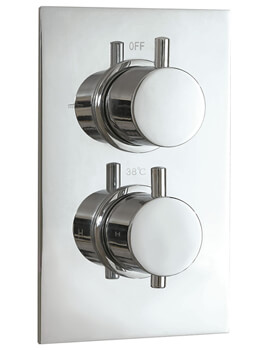 Concealed Single Function Thermostatic Twin Shower Valve Round Handle