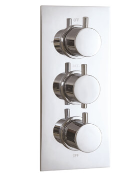 Concealed 3 Functions Thermostatic Triple Shower Valve Round Handle