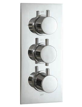 Concealed Dual Functions Thermostatic Triple Valve Round Handle
