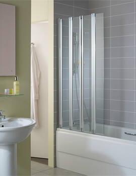 New Connect 820 x 1500mm 4 Panel Folding Bath Screen