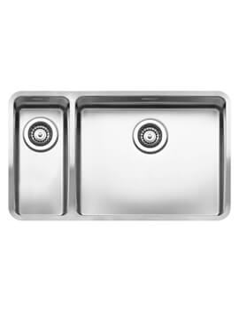 Ohio 753 x 440mm Stainless Steel 1.5 Bowl Integrated Kitchen Sink - Main Bowl Right