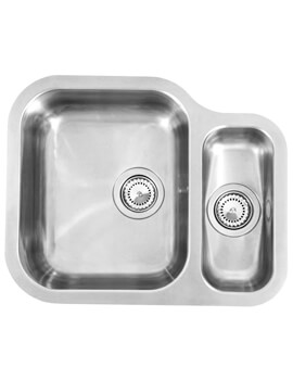 Alaska 577 x 470mm Stainless Steel 1.5 Bowl Undermount Sink