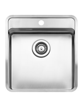 Ohio 440 x 510mm Stainless Steel 1.0 Bowl Integrated Sink With Tap Deck