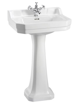 Burlington Edwardian 560mm Medium Basin And Full Pedestal