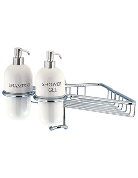 Chrome Single Wire Basket With Ceramic Dispensers