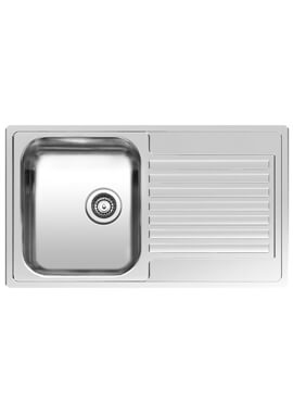 Centurio L10 Stainless Steel Integrated Sink 850 x 490mm