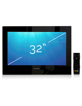 ProofVision 32 Inch Premium Widescreen Waterproof Bathroom TV - Black - Image