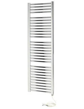 Napoli 450mm Wide Curved Sealed Chrome Electric Towel Rail