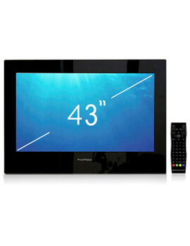 ProofVision 43 Inch Premium Widescreen Waterproof Bathroom TV - Black