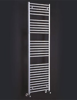 Flavia 300 x 1200mm Chrome Straight Towel Rail