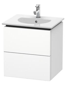 Delos 500 x 426mm White Matt 2 Drawers Vanity Unit With Basin