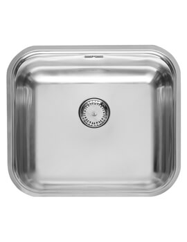 Colorado 455 x 393mm Single Bowl Stainless Steel Integrated Sink