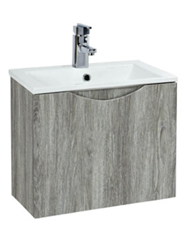 Malmo 400 x 420mm Avola Wall Hung Unit And Basin
