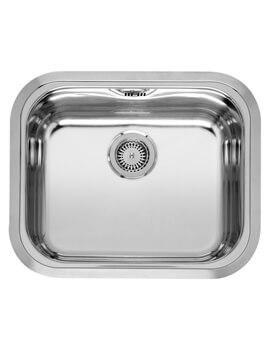 Chicago 600 x 500mm Single Bowl Stainless Steel Undermount Kitchen Sink