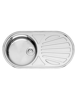 Galicia 855 x 445mm Single Bowl Stainless Steel Inset Sink