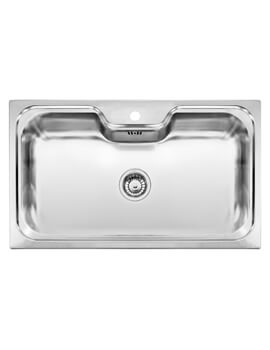 Jumbo Single Bowl Stainless Steel Inset Sink 860 x 510mm