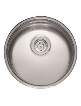 Reginox L18 Series 440mm Round Single Bowl Stainless Steel Integrated Sink