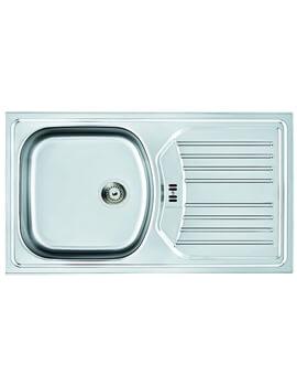 Carron Phoenix Euroset 100 Plus Polished 1.0 Bowl Inset Kitchen Sink - Image