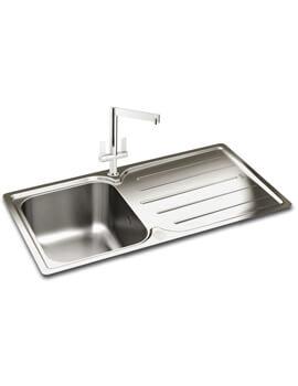Carron Phoenix Adelphi 100 Polished 1.0 Bowl Inset Kitchen Sink