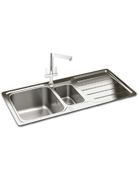 Carron Phoenix Adelphi 150 Polished 1.5 Bowl Inset Kitchen Sink