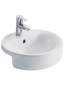 Concept Sphere 450mm Semi Countertop Washbasin With 1 Tap Hole