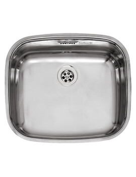 L18 Series 440 x 380mm Single Bowl Stainless Steel Integrated Sink