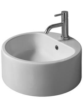 Saneux Uni Circular Gloss White Countertop Washbasin