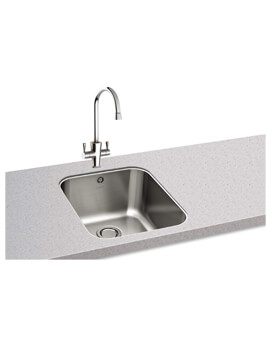 Carron Phoenix Ibis 100 Polished 1.0 Bowl Undermount Kitchen Sink