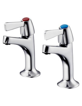 Alterna 21 1-2 Inch Pair Of High Neck Pillar Taps
