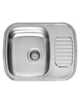 Regidrain 595 x 470mm Single Bowl Stainless Steel Reversible Inset Sink