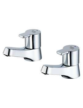 Sandringham 21 SL 1/2 Inch Pair Of Basin Pillar Taps