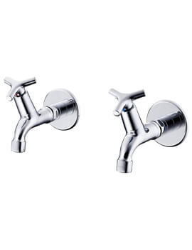 Nimbus 21 1-2 Inch Bib Taps With Anti Vandal Spray Outlet Pair