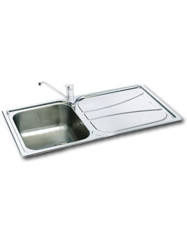 Carron Phoenix Zeta 90 Polished 1.0 Bowl Inset Kitchen Sink
