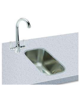 Carron Phoenix Zeta 50U Polished 1.0 Bowl Undermount Kitchen Sink