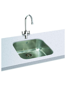 Carron Phoenix Zeta 105U Polished 1.0 Bowl Undermount Kitchen Sink