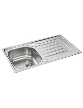 Carron Phoenix Onda 90 Polished 1.0 Bowl Inset Sink