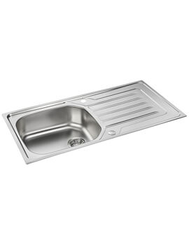 Carron Phoenix Onda 100 Polished 1.0 Bowl Inset Sink