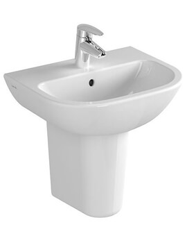 Layton 550 x 450mm 1Tap Hole Basin With Half Pedestal