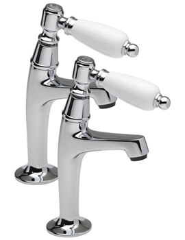 Series 900 Lever Pair Of High Neck Pillar Taps