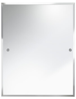 Rectangle 700 x 550mm Mirror With Chrome Fixings