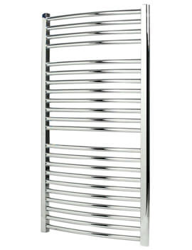 Napoli 450mm Wide Chrome Curved Multirail Towel Radiator