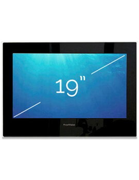 ProofVision 19 Inch Premium Widescreen Waterproof Bathroom TV With Black Finish - Image