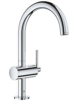 Atrio L Size Single Lever Basin Mixer Tap With Pop-Up Waste